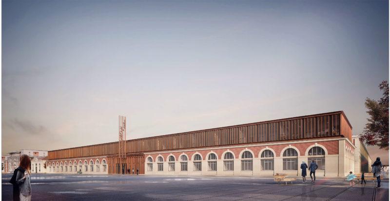 Architecte : K-Architectures   Copyright Perspectiviste: RAR – Romain Ghomari- Centre des savoirs et de l'industrie, Saint-Étienne