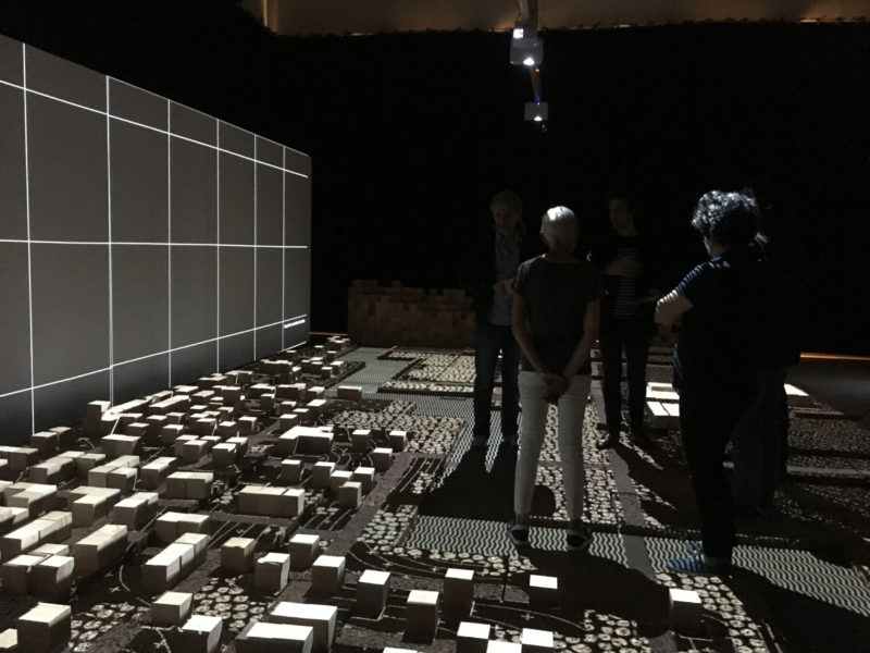 Biennale d'architecture de Lyon  Crédit photographe : CAUE Rhône métropole- Installation Re-Génerations, Biennale de Lyon 2017